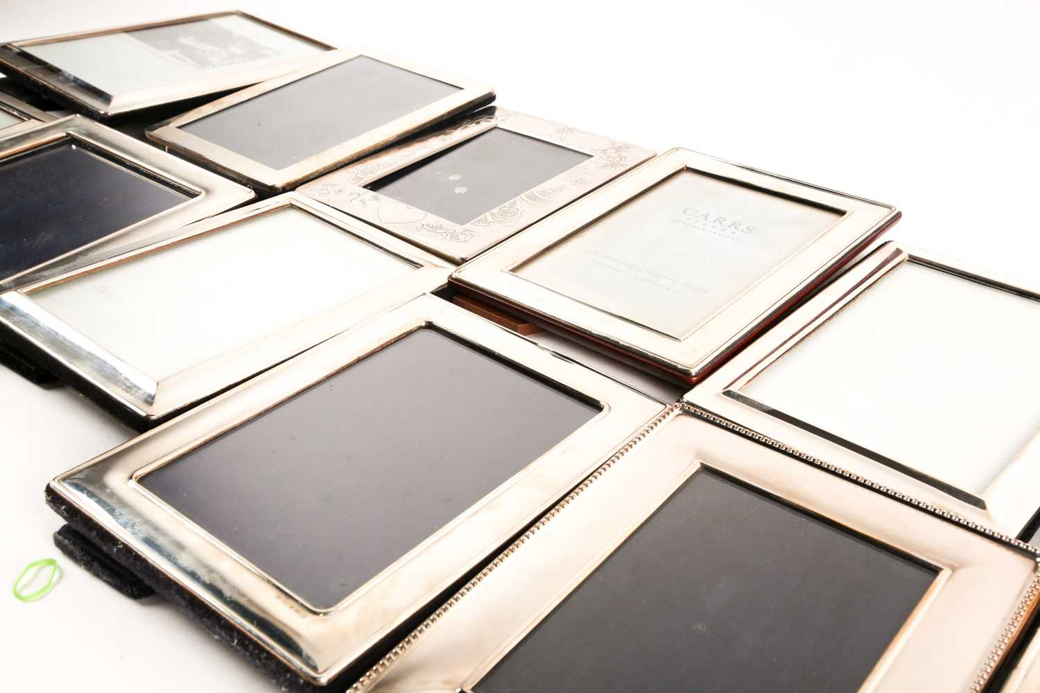 A large collection of silver and white metal mounted photograph frames, the largest aperture size - Image 3 of 5