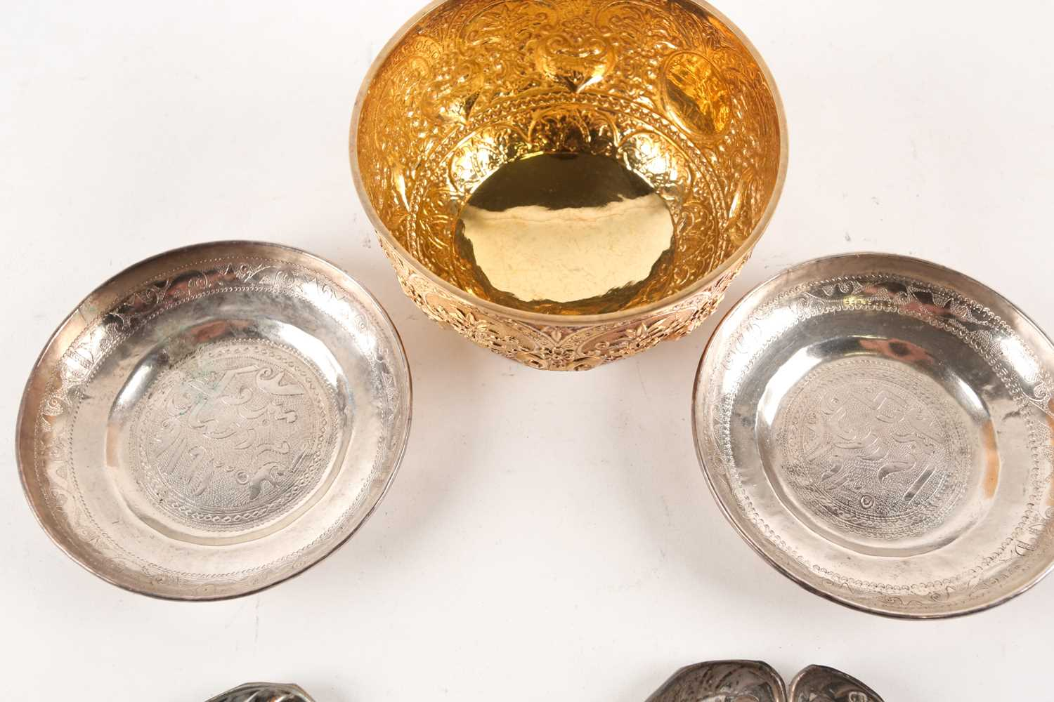 A Victorian silver gilt bowl, London 1880 by Holland, Son & Slater, with heavily embossed foliate - Image 2 of 4