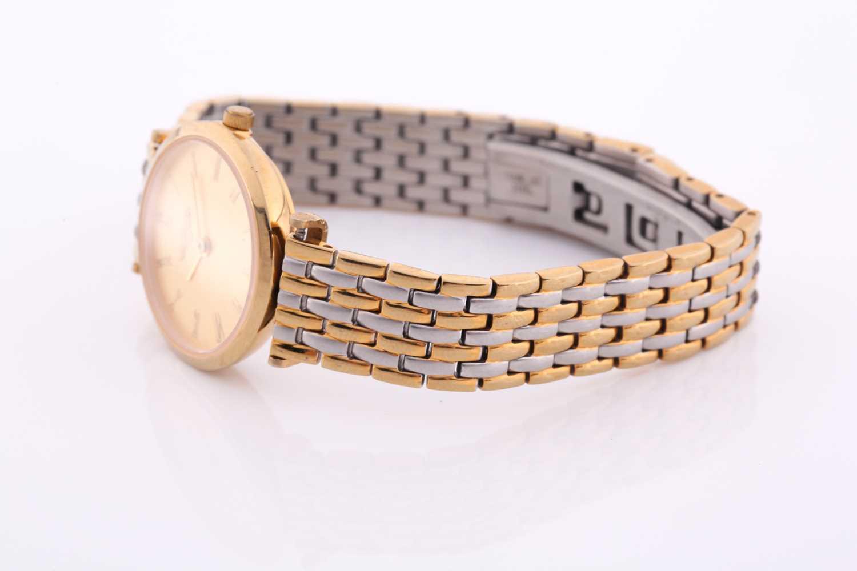 Longines. A ladies gilt metal 'La Grande Classique de Longines' wristwatch, gilt baton dial on - Image 6 of 6