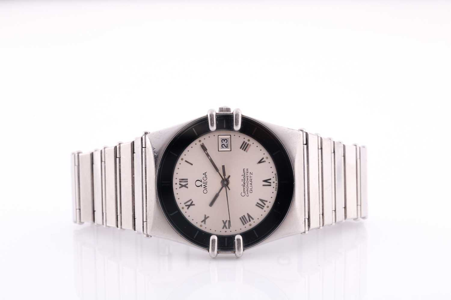 An Omega Constellation chronometer quartz wristwatch, with date aperture and Roman numeral dial, - Image 5 of 5