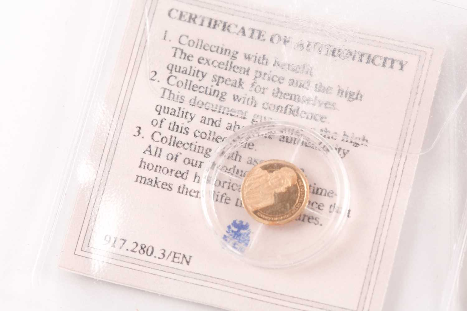 Two boxed 9ct gold proof Double Crowns, commemorating the birth of Prince George (2014) and - Image 7 of 8