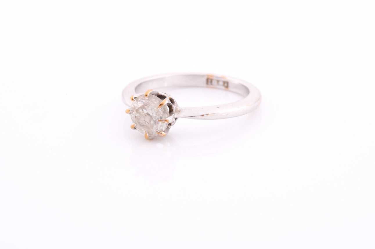 An 18ct white gold and solitaire diamond ring, set with a round-cut diamond of approximately 0.80 - Image 3 of 4