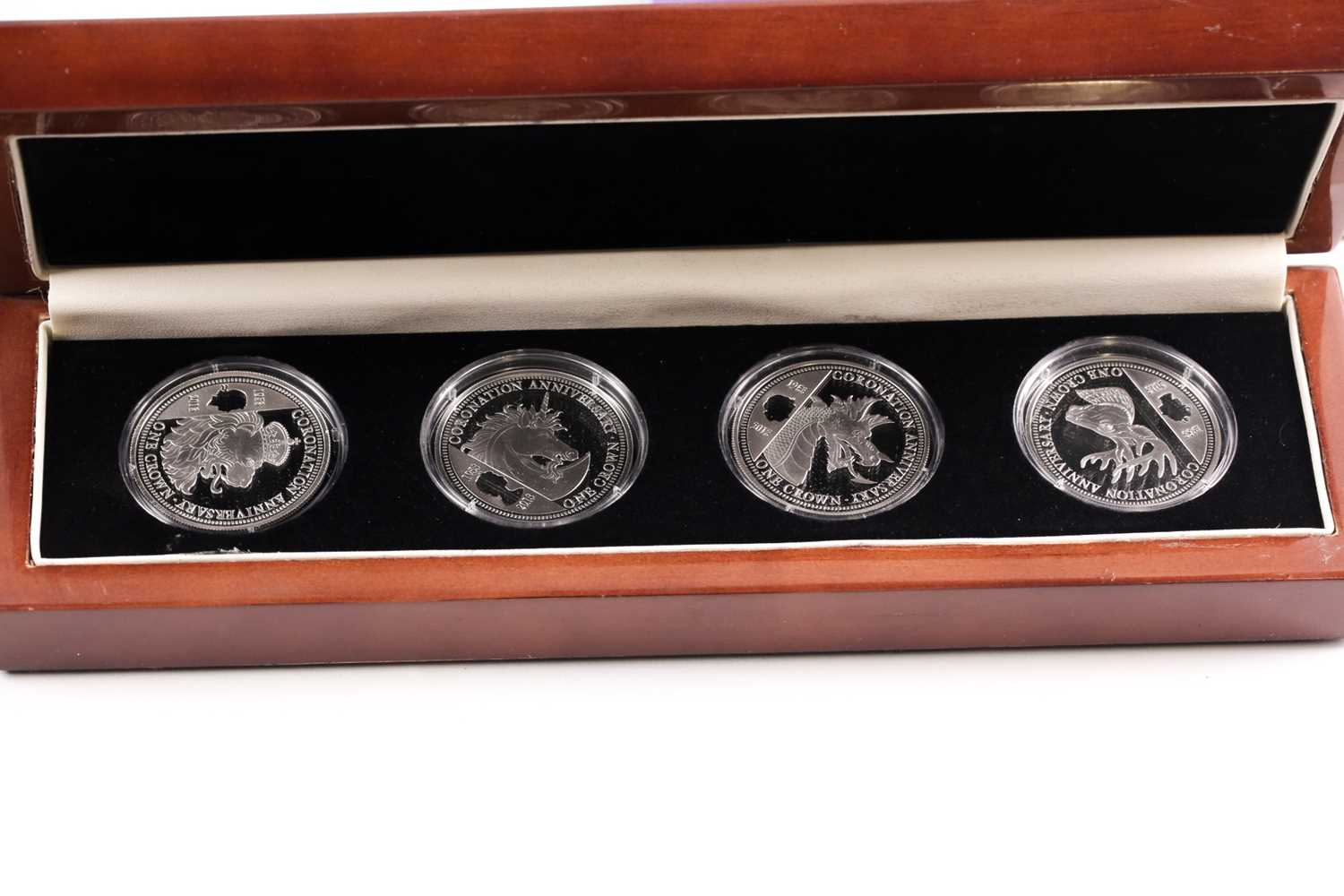 Eight boxed sets of commemorative coins, comprising: 'Squadrons of the Royal Air Force' four-coin - Image 8 of 9
