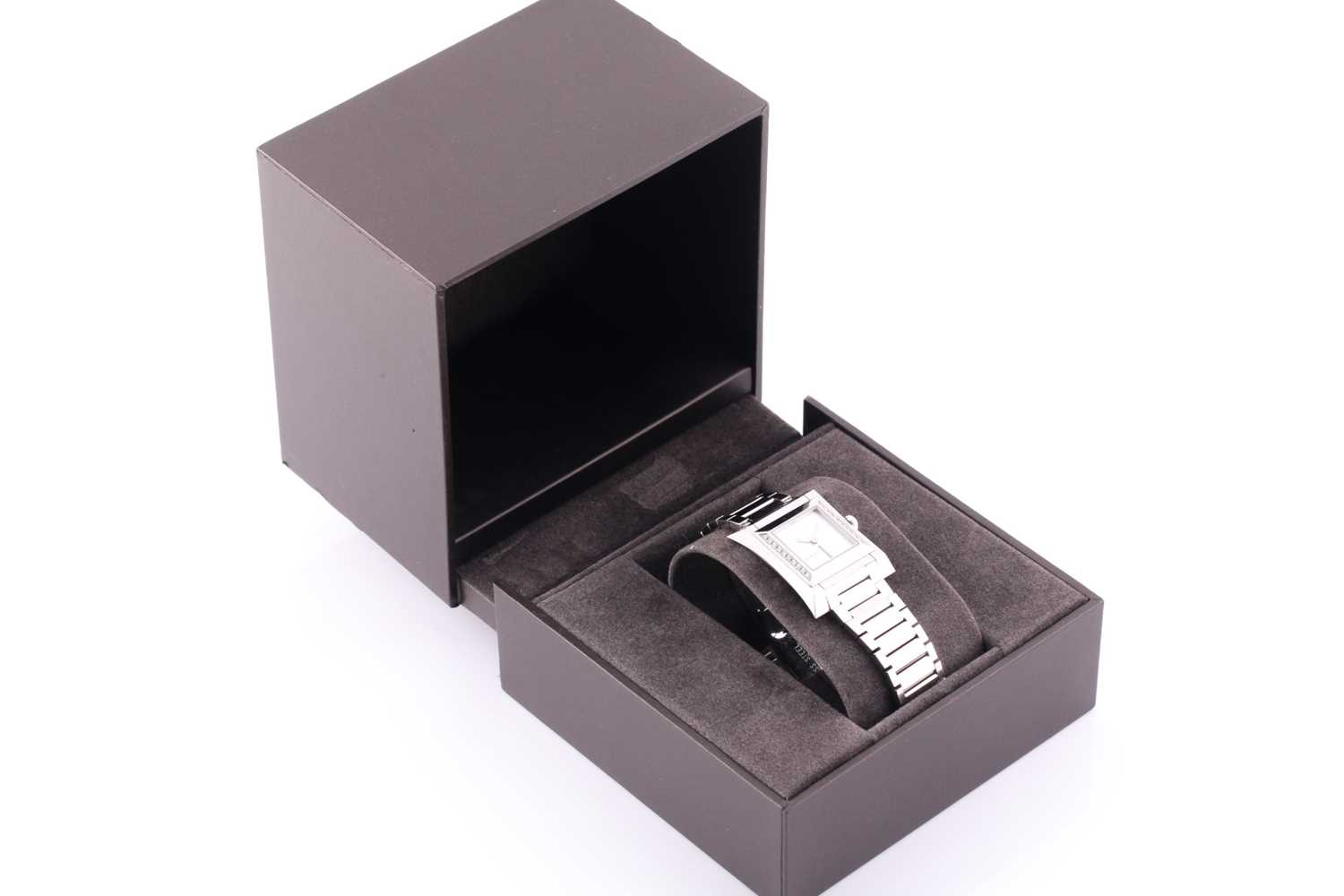 A ladies stainless steel watch by Gucci, with mother-of-pearl square dial, small diamonds set to - Image 2 of 10
