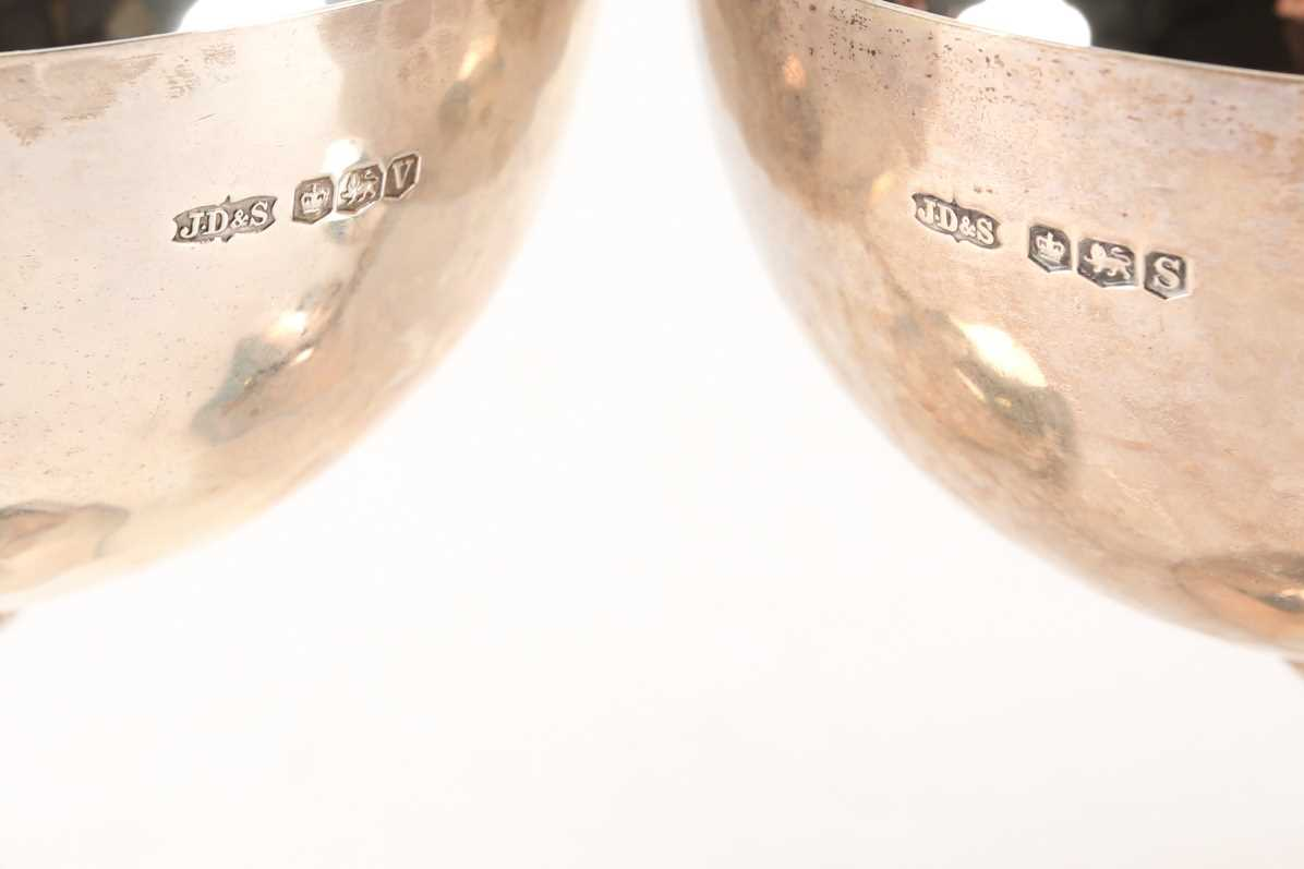 A near set of five 1930s silver coupes, Sheffield (variously dated), by James Dixon & Sons, with - Image 2 of 3