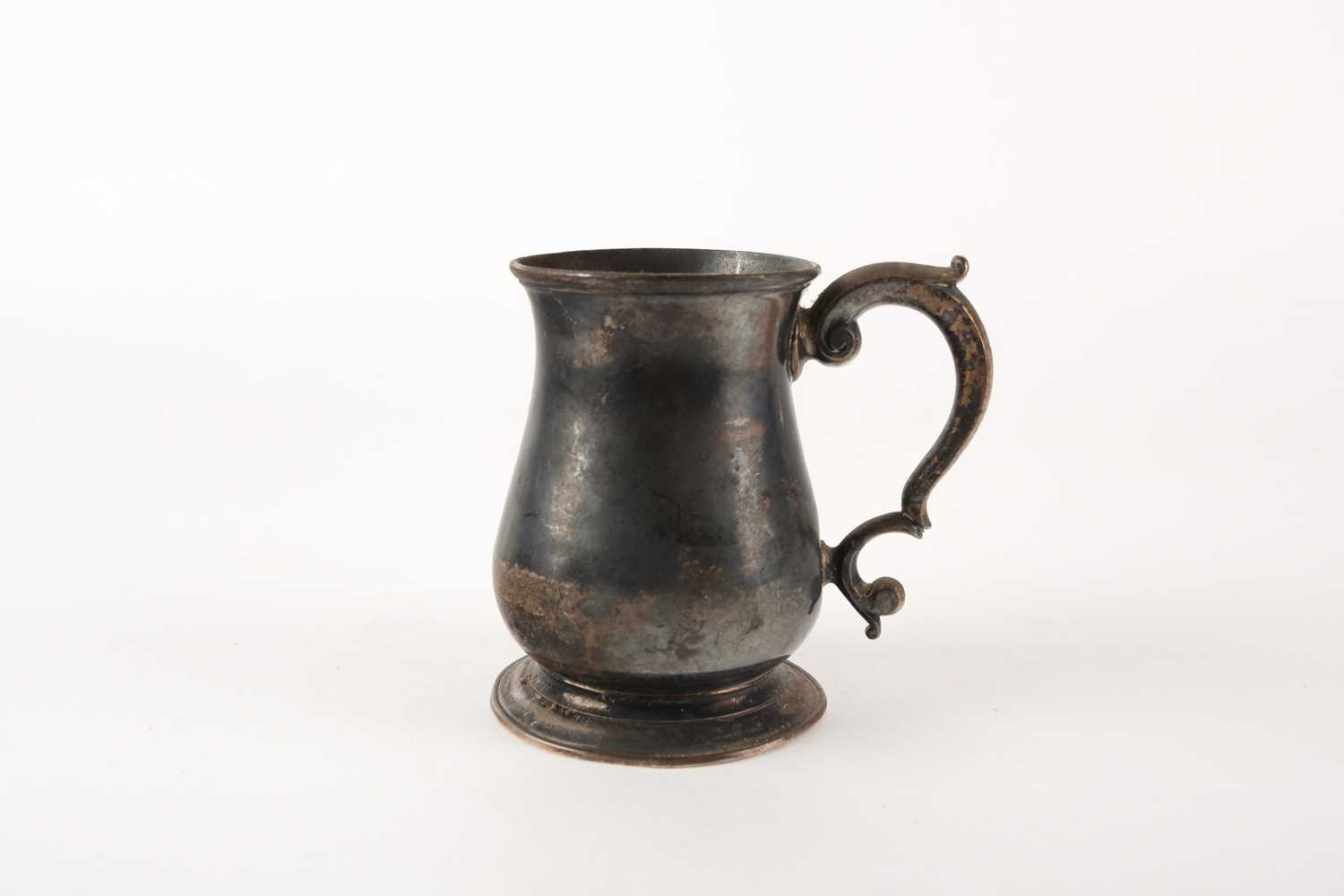 A George II silver baluster tankard. London 1749 possibly by William Shaw & William Priest. 6.6 ozt.