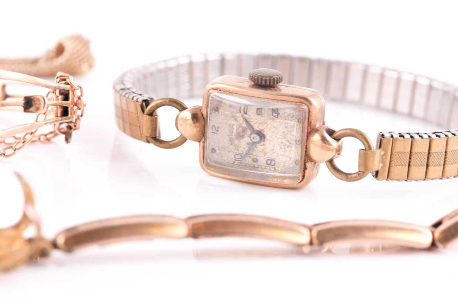 A gold watch frame, bracelet and mount, to fit a pocket watch. the central vacant circular - Image 4 of 5