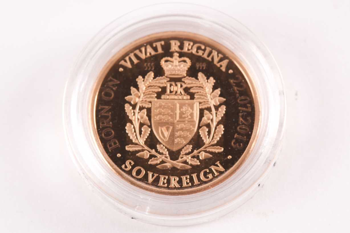 A 2013 Vivat Regina proof sovereign, London Mint Office, boxed, in a capsule and with certificate. - Image 2 of 4