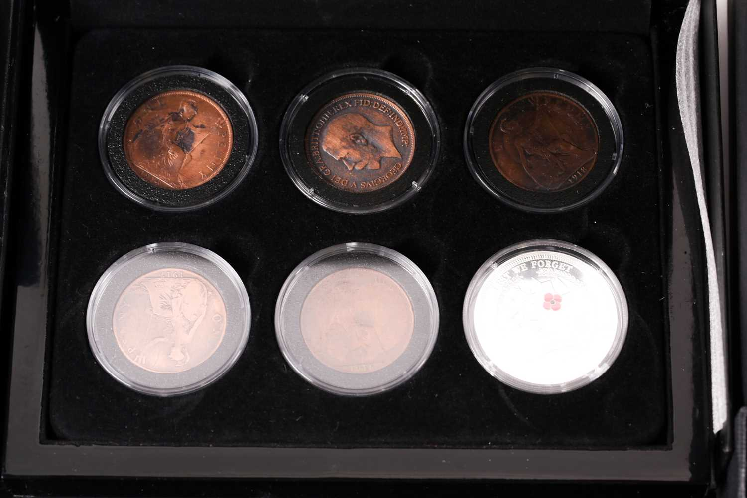 Eight boxed sets of commemorative coins, comprising: 'Squadrons of the Royal Air Force' four-coin - Image 7 of 9