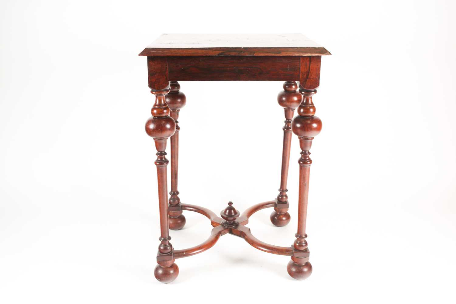 A late 17th-century style Dutch/ Portuguese rosewood, walnut and marquetry pedestal table. The top - Image 2 of 5