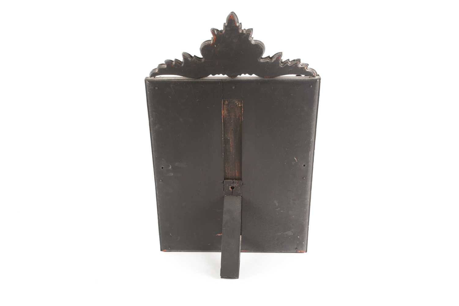 A Venetian dressing table mirror, with scroll surmount and easel back, 62 cm x 38 cm (full - Image 2 of 7