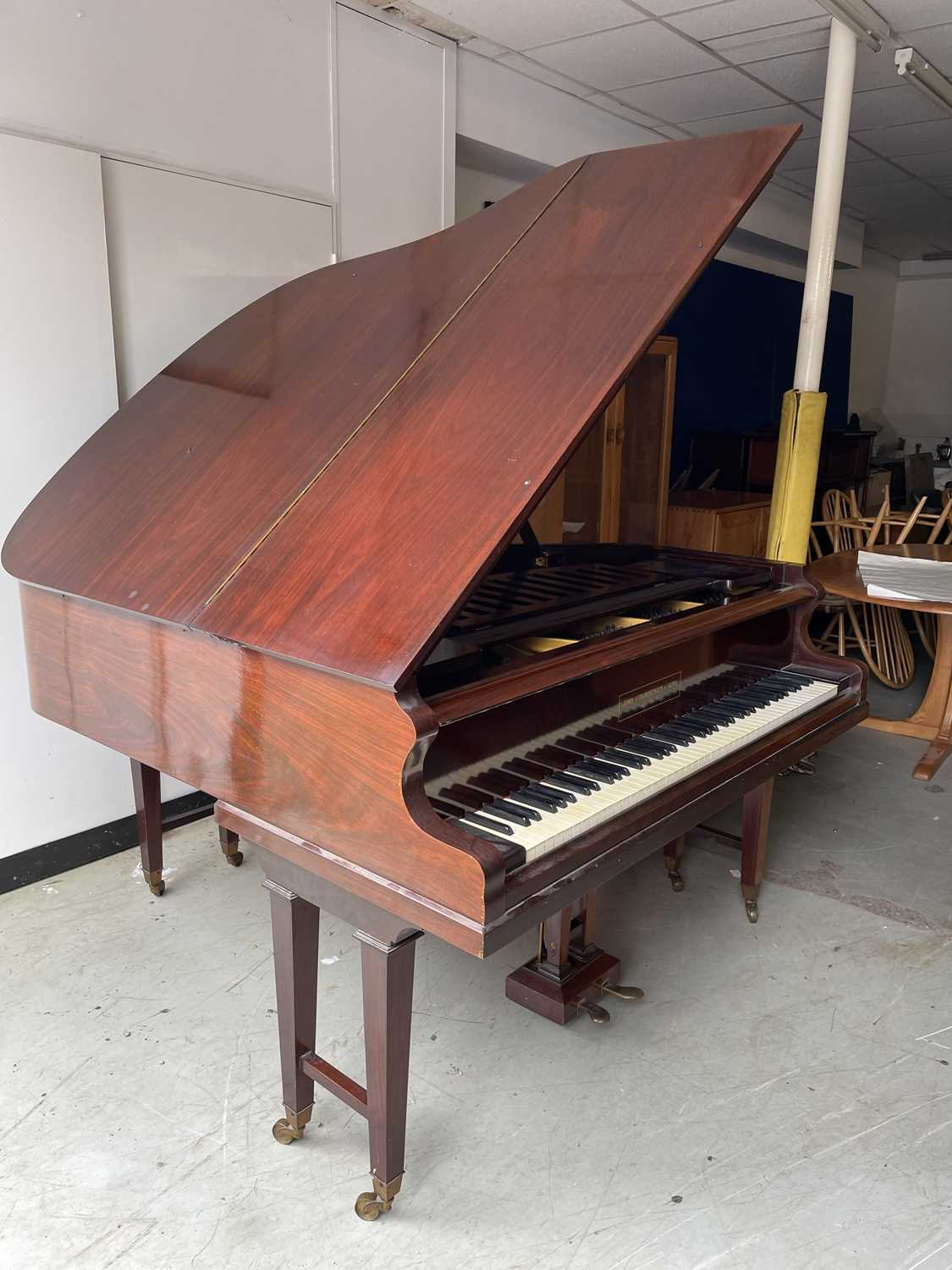 A mahogany cased baby grand piano, by John Strohmenger & Sons, London, 143 cm wide x 101 cm high x - Image 3 of 21