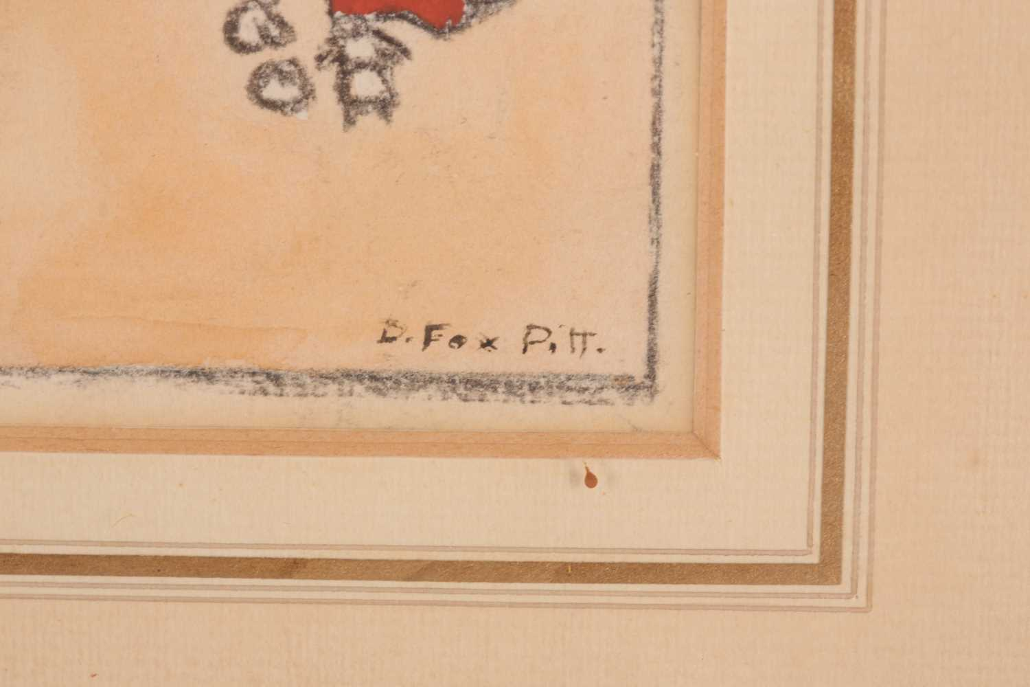 Douglas Fox-Pitt RBA (1864-1922), 'On the Beach at Brighton', pen and watercolour, signed to lower - Image 3 of 4