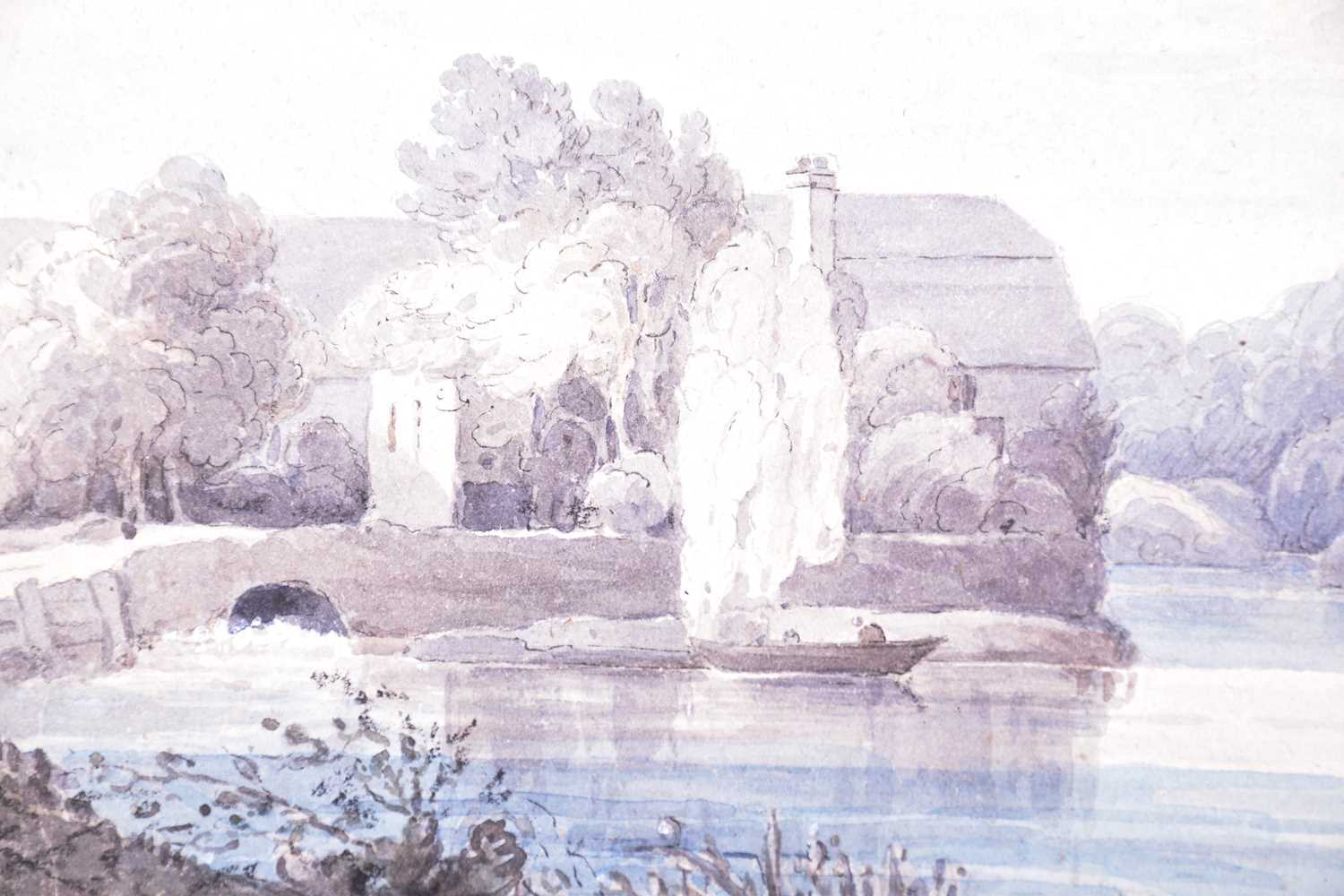 19th century English School, ' Clifden bank from Maidenhead Bridge', dated August 1833, watercolour, - Image 2 of 4