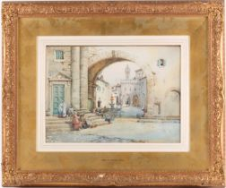 Noel Harry Leaver ARCA (1889-1951) British, a North African street scene, watercolour, 26 cm x 36 cm