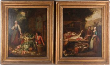 Attributed to Pieter Angellis (Angellus/Angilis) (1685 - 1734), a pair of genre scenes, a