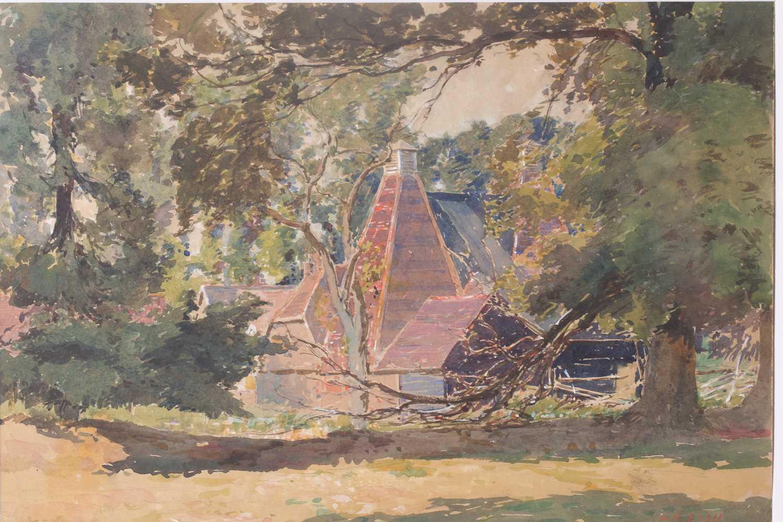 "William Herbert Allen (1863-1943), ""King's Farm, Binstead"" and ""Binstead"", watercolours, a pair, - Image 2 of 11"