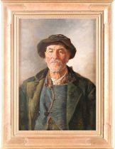 Joseph Eugen Horwarter (Austrian, 1854 - 1925), portrait of a Tyrolean lumberjack, signed and