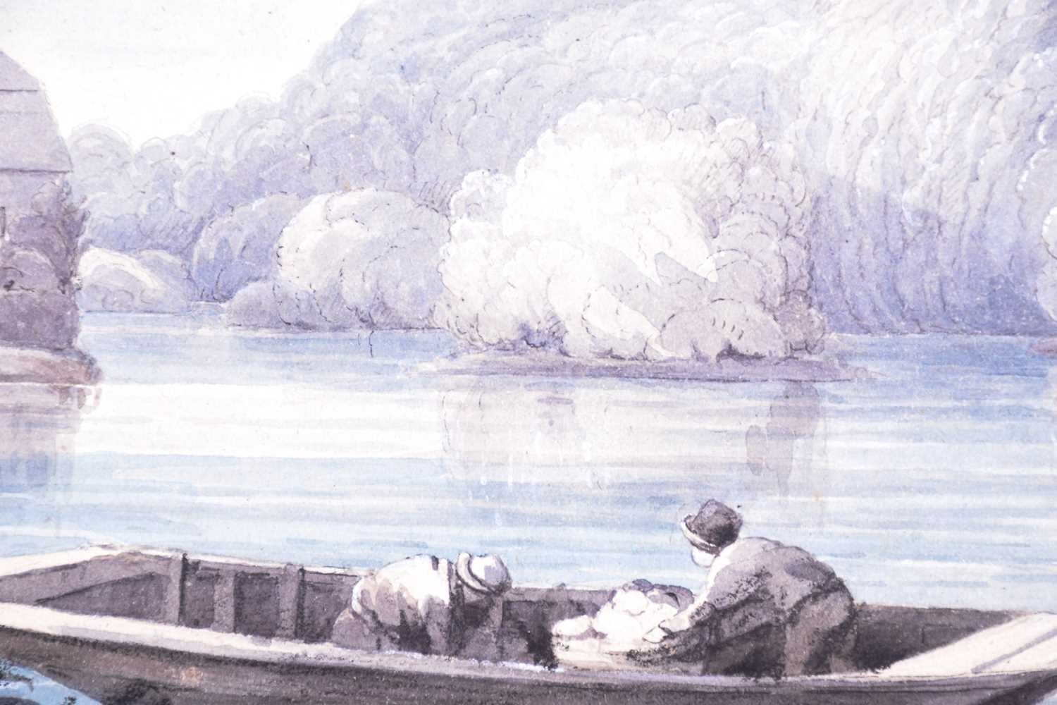 19th century English School, ' Clifden bank from Maidenhead Bridge', dated August 1833, watercolour, - Image 4 of 4