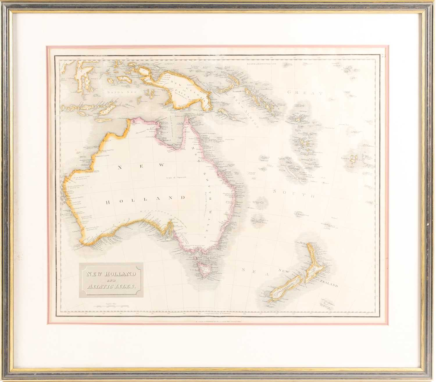 Drawn and engraved for Thomson's New General Atlas, New Holland and Asiatic Isles, engraved map,