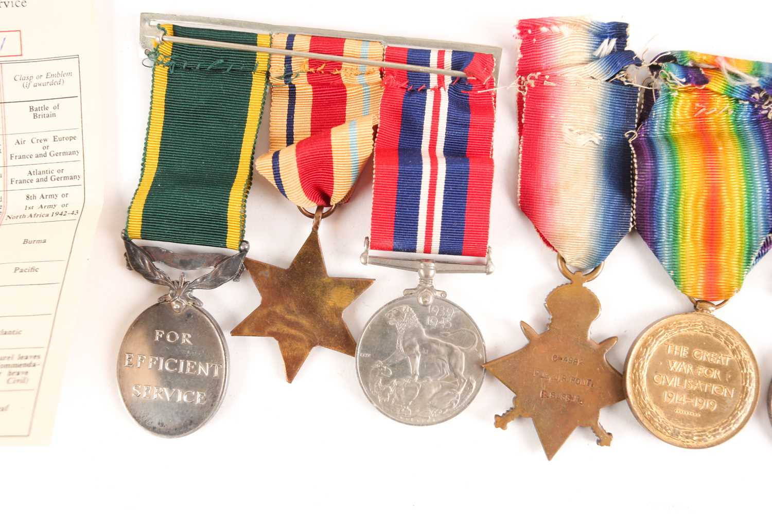 A WWI Campaign, Victory Medal and 1914-1918 Star, to G-4982 PTE. J.R. Pont, Royal Sussex Regiment, - Image 2 of 10