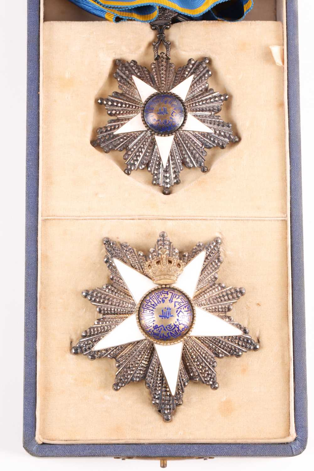 Order Of The Nile. A cased set to include a silver-gilt and enamel neck badge and matching breast - Image 2 of 5