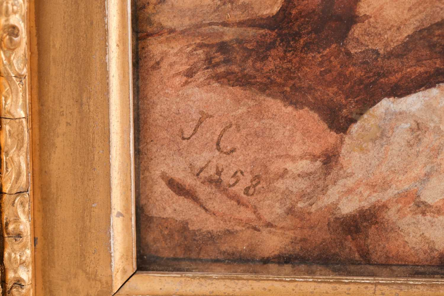 19th century Scottish school, a mountainous landscape, depicting the remains of a fort in the - Image 6 of 7