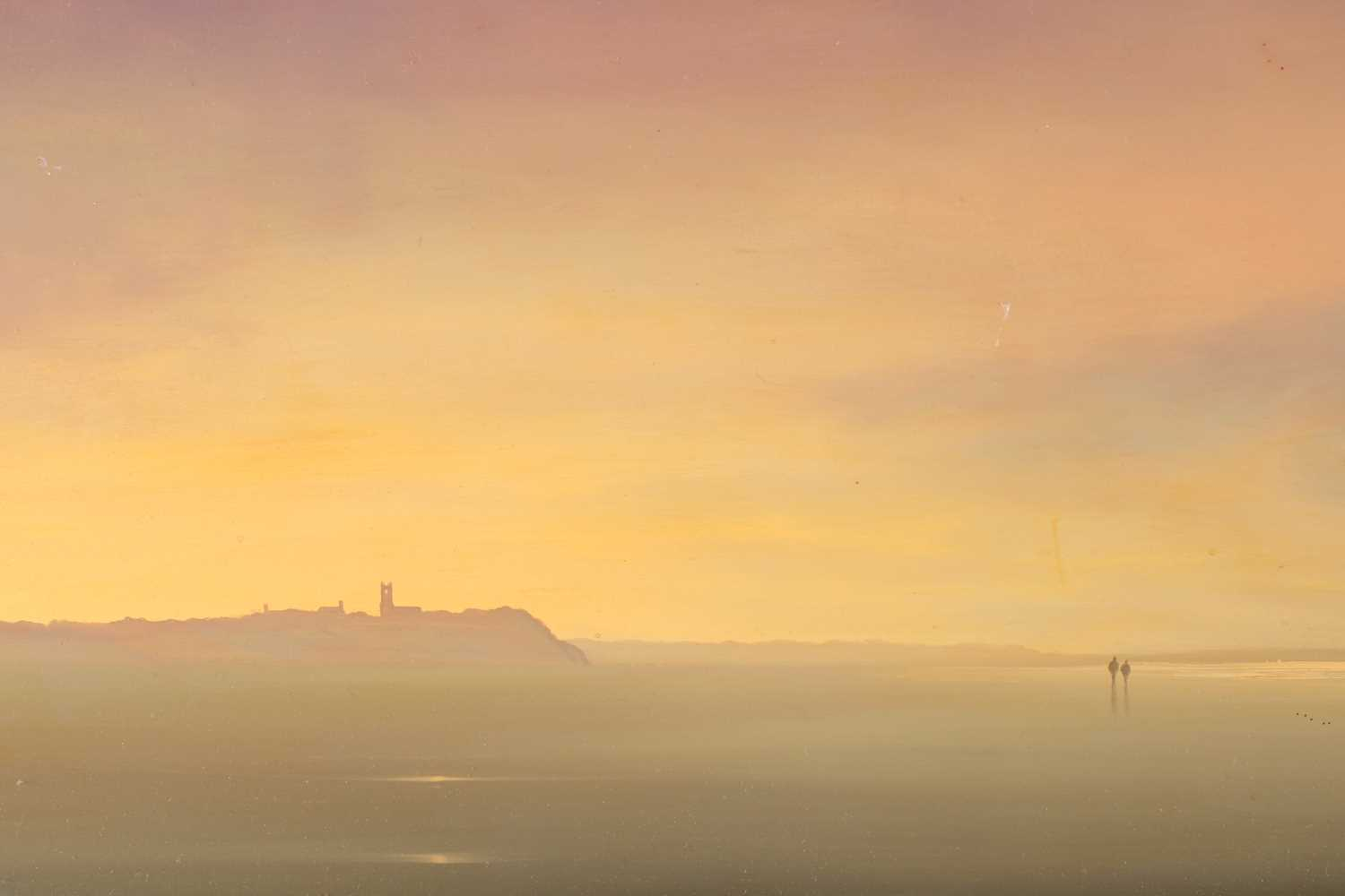 Lawrence Coulson (b.1962), coastal landscape, oil on canvas, signed to lower left corner and - Image 6 of 7