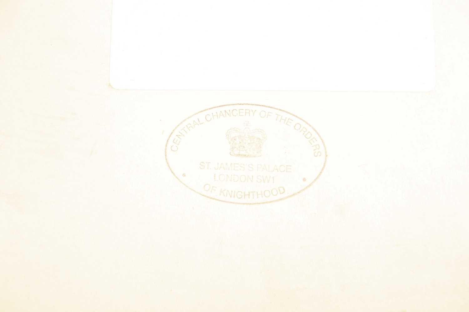 An M.B.E certificate to Keith Leslie Tucker (M.B.E) signed (printed signatures) by her majesty Queen - Image 5 of 10