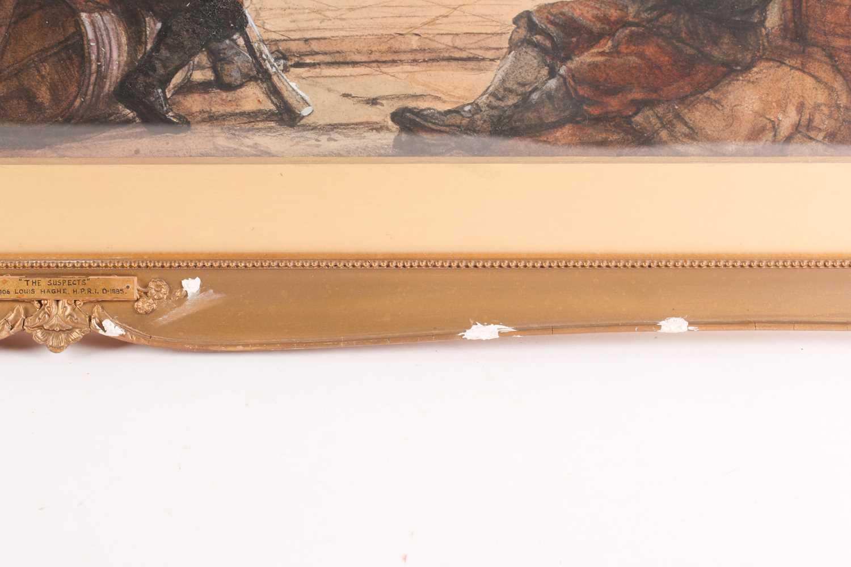 Louis Haghe HPRI (1806-1885) Belgian, 'The Suspects', a large pen & watercolour, 58 cm x 81 cm, - Image 8 of 9