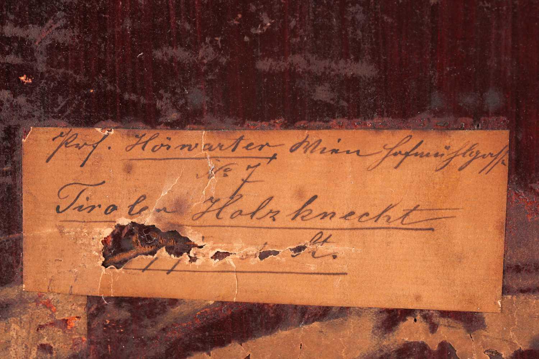Joseph Eugen Horwarter (Austrian, 1854 - 1925), portrait of a Tyrolean lumberjack, signed and - Image 3 of 6