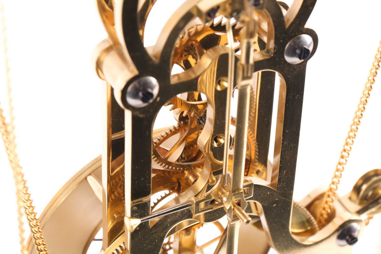 F.H. Whitlock. A French-style twin weight driven brass skeleton timepiece mantle timepiece with - Image 3 of 9