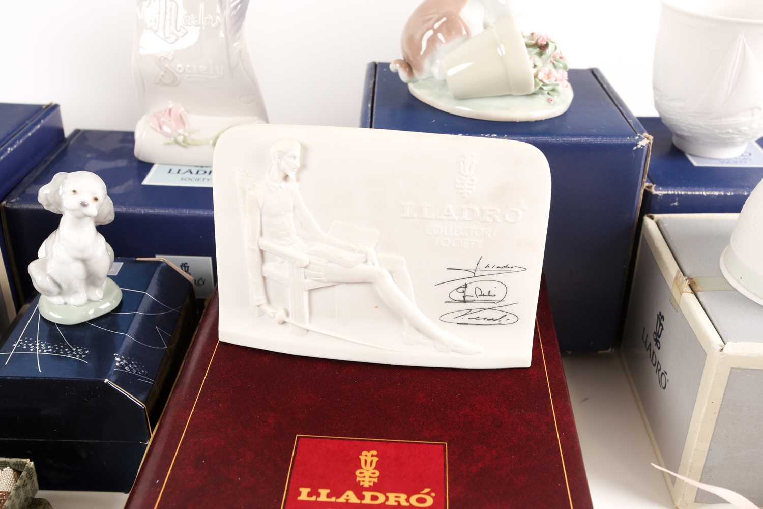 A quantity of Lladro collectables, to include Collectors Society items, It Wasn't Me (07672), candle - Image 7 of 7