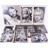 A collection of photographs of religious carvings, European cities and other themes, taken by