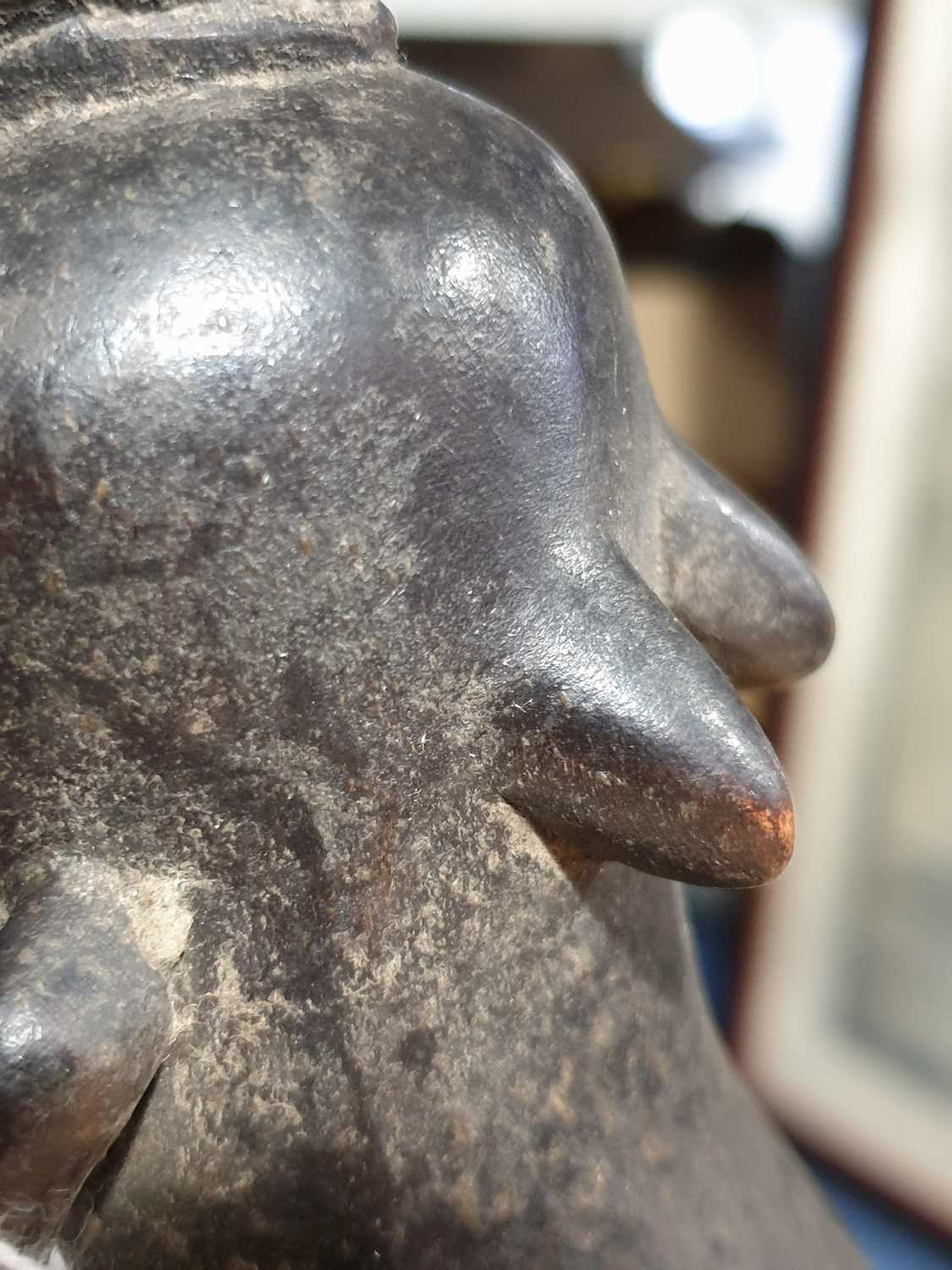 A Baule standing male figure, Blolo Bian, Ivory Coast, the coiffure with linear decoration, the face - Image 9 of 15