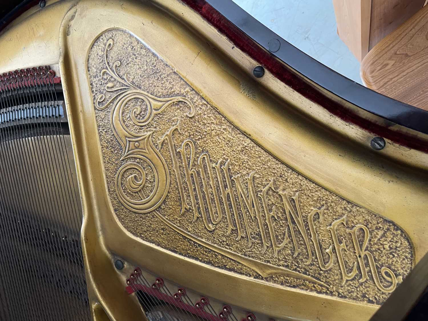 A mahogany cased baby grand piano, by John Strohmenger & Sons, London, 143 cm wide x 101 cm high x - Image 6 of 21