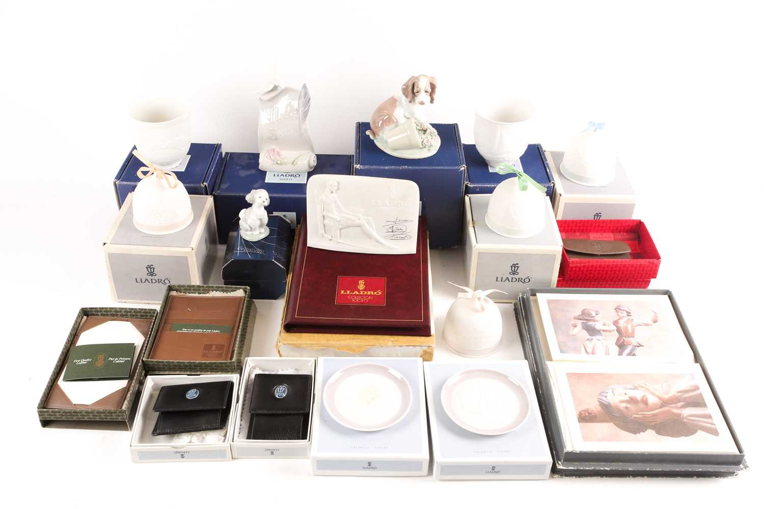 A quantity of Lladro collectables, to include Collectors Society items, It Wasn't Me (07672), candle
