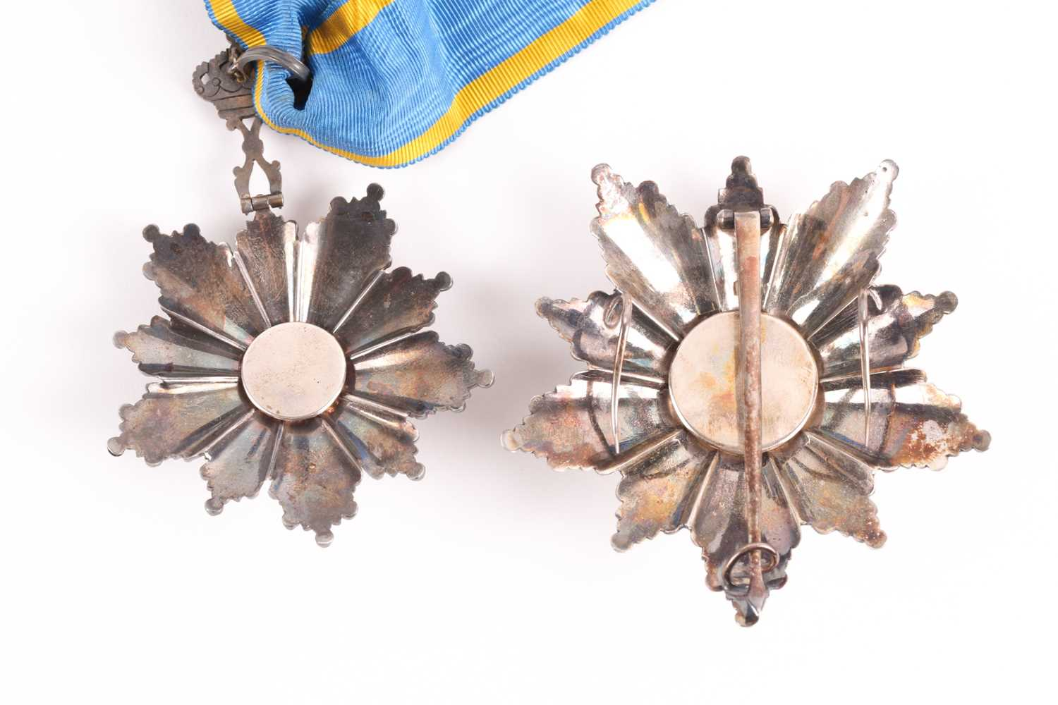 Order Of The Nile. A cased set to include a silver-gilt and enamel neck badge and matching breast - Image 4 of 5