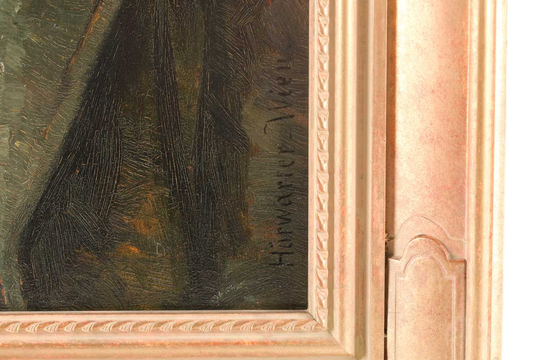 Joseph Eugen Horwarter (Austrian, 1854 - 1925), portrait of a Tyrolean lumberjack, signed and - Image 6 of 6