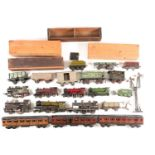 Three Bowman coaches, model number 550, in LMS (x2) and LNER livery, each in original wooden case (