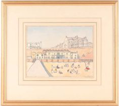 Douglas Fox-Pitt RBA (1864-1922), 'On the Beach at Brighton', pen and watercolour, signed to lower