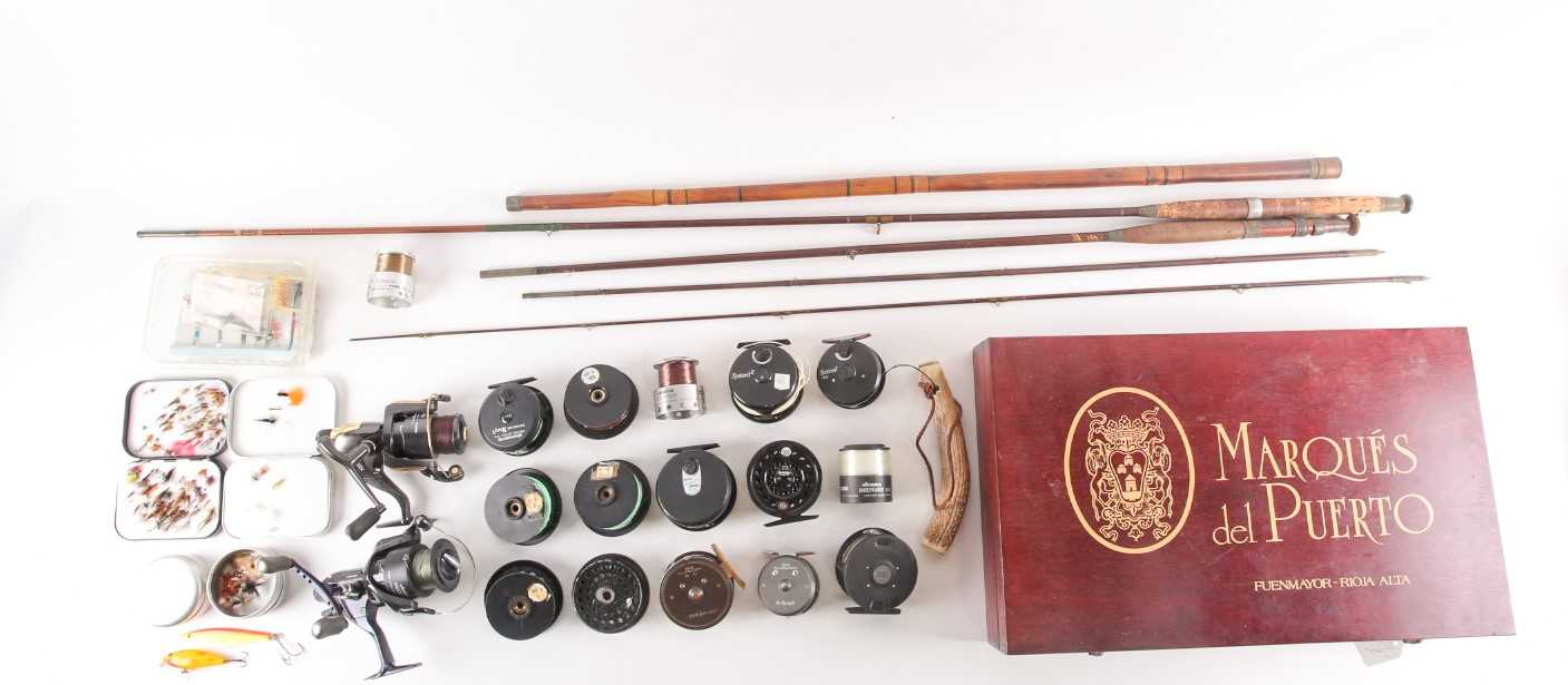 A collection of assorted fly (and other) fishing reels, to include 'The Flyweight' and 'LRH