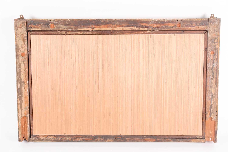 A Regency rectangular carved wood and gilt gesso overmantle mirror. With oak leaf Florette, split - Image 2 of 2