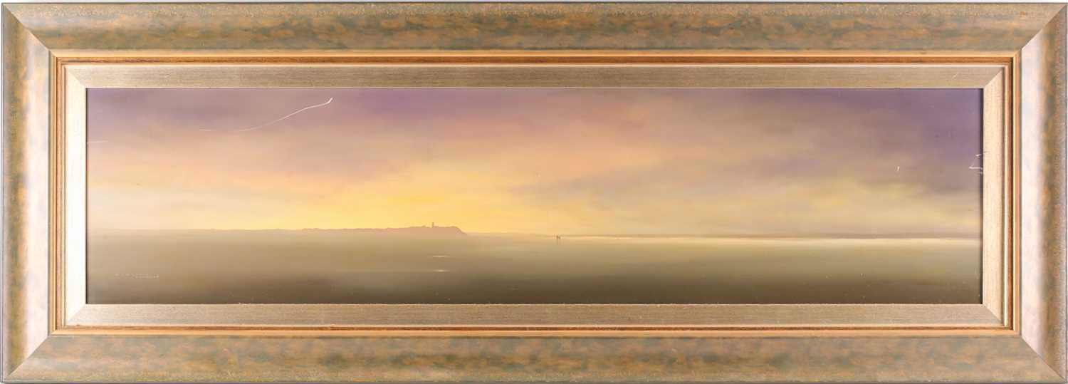 Lawrence Coulson (b.1962), coastal landscape, oil on canvas, signed to lower left corner and