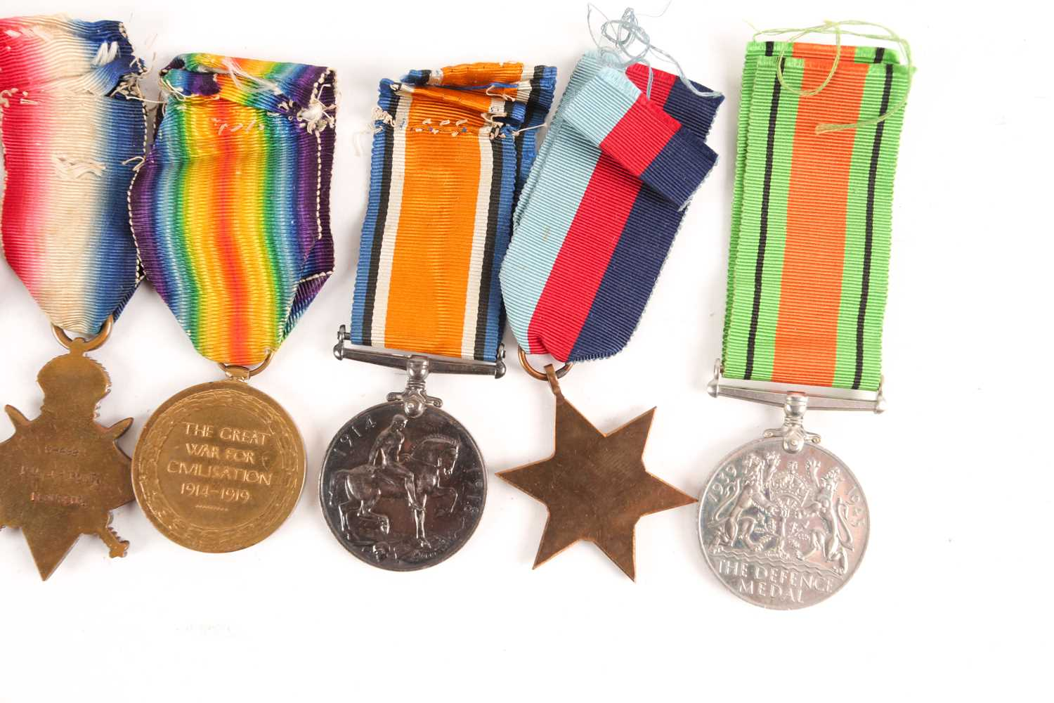 A WWI Campaign, Victory Medal and 1914-1918 Star, to G-4982 PTE. J.R. Pont, Royal Sussex Regiment, - Image 5 of 10