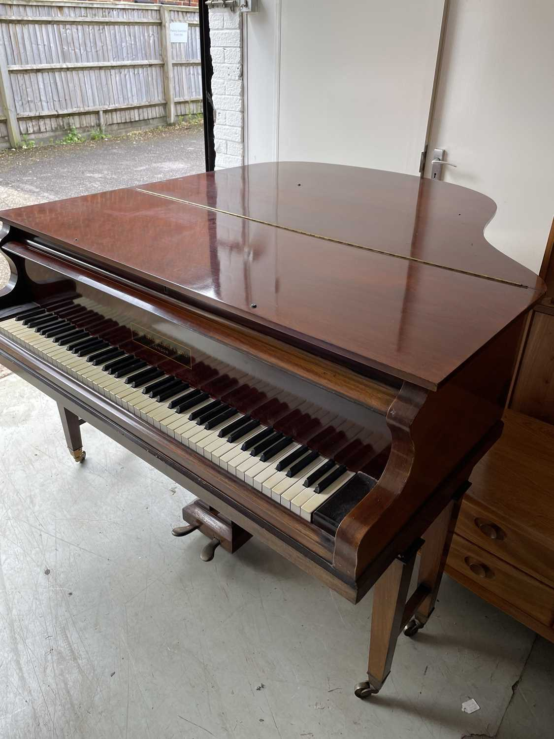 A mahogany cased baby grand piano, by John Strohmenger & Sons, London, 143 cm wide x 101 cm high x - Image 16 of 21