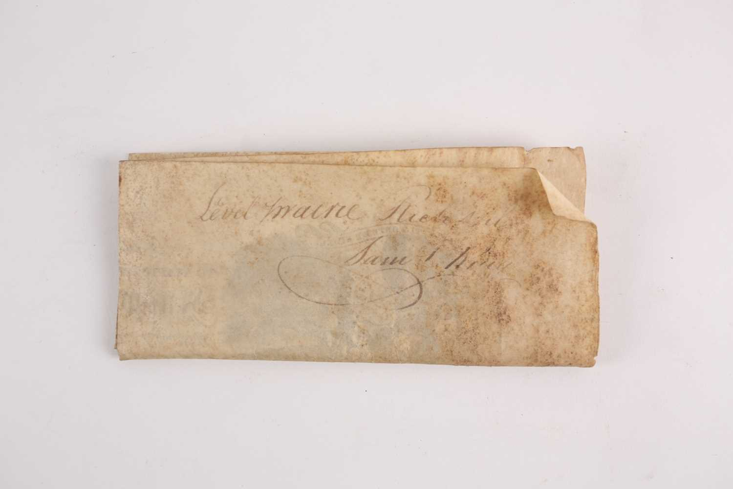 Historical American Interest. An early 19th-century velum land grant indenture signed by James - Image 2 of 4