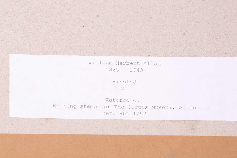 "William Herbert Allen (1863-1943), ""King's Farm, Binstead"" and ""Binstead"", watercolours, a pair, - Image 7 of 11"