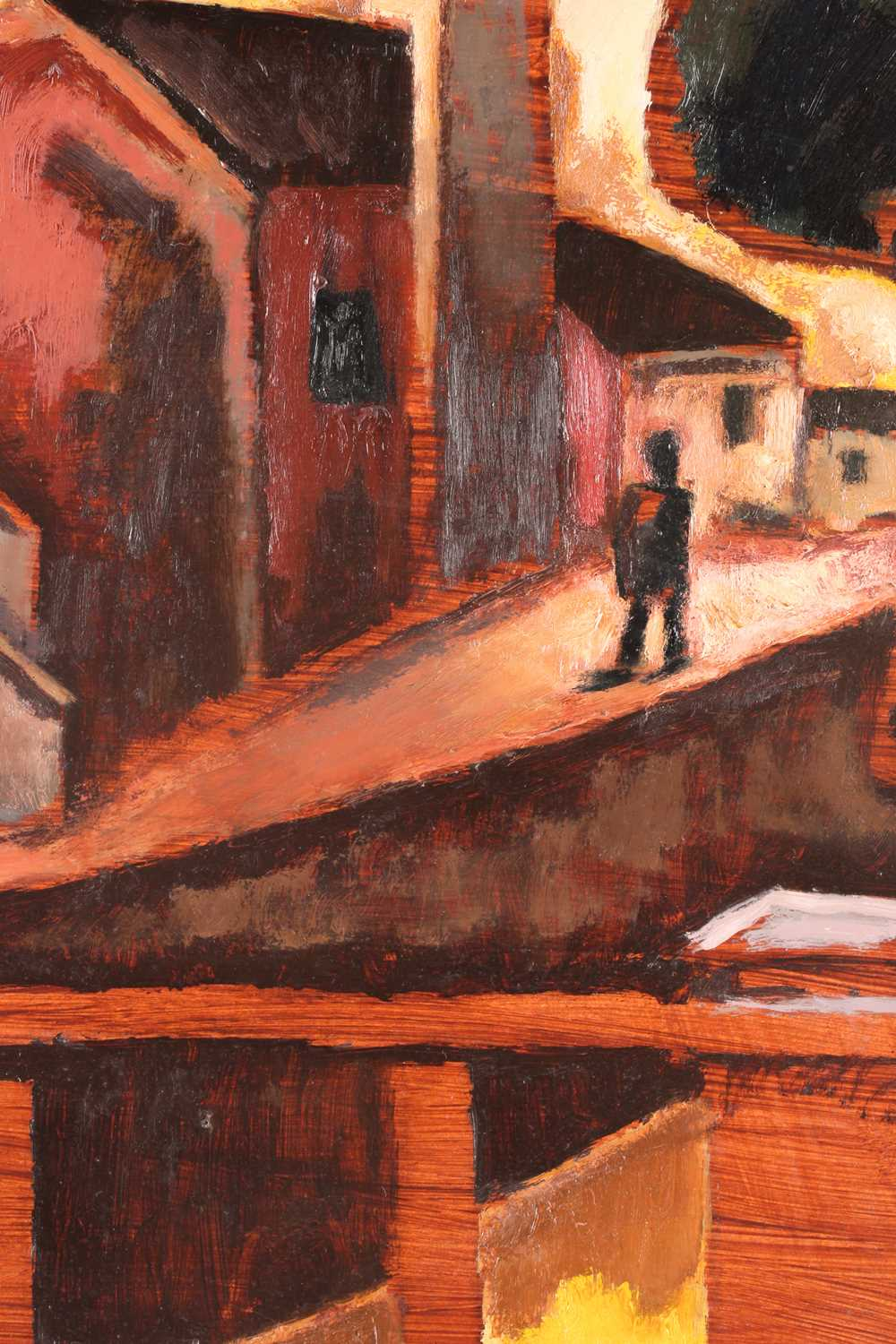 Josef Herman (1911-2000) Polish/British, 'The Little Street', 1953 (and later), a figure before - Image 6 of 6