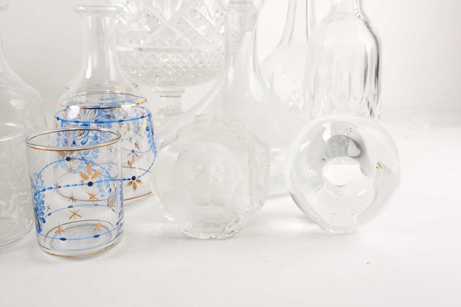 A quantity of cut glass to include a pair of large pedestal bowls, a Waterford decanter, glass - Image 3 of 7